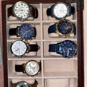 8 genuine fossil watches-with box